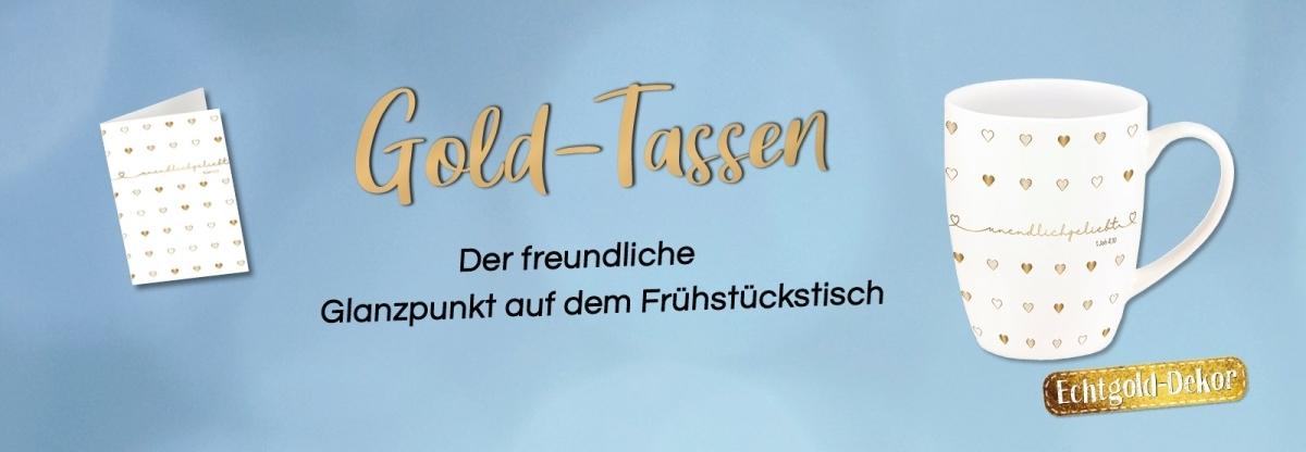 Tasse 'Sei gesegnet - Gold-Edition'